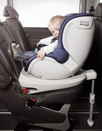 Toddler in rear facing seat
